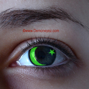 moon and stars contact lenses