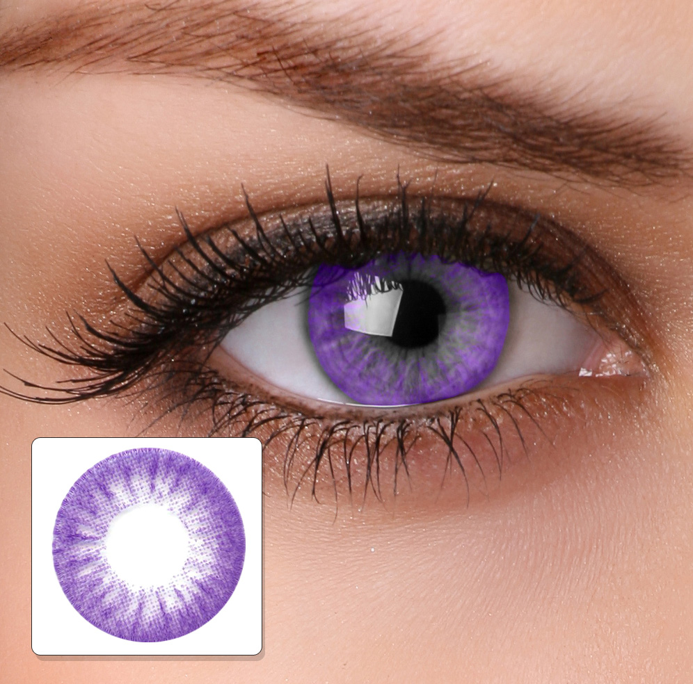 Prescription Purple Cat Eye Contacts
