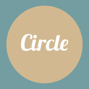 circle face shape graphic