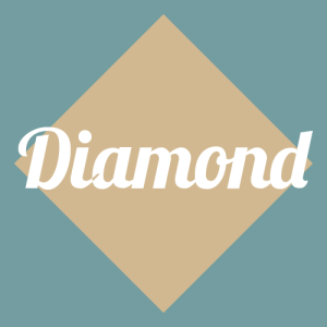 diamond face shape graphic