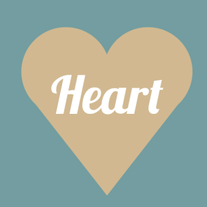 heart face shape graphic