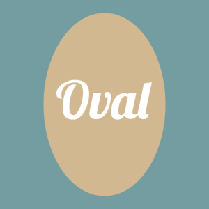 oval face shape graphic