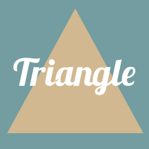 triangle face shape graphic
